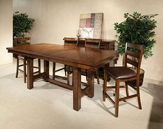 Intercon Kona Mango Wood 7 Pc Trestle Gathering Set For Sale Dining Room Furniture, Living Room Chairs, Dining Room Table, Dining Chairs, Deco Furniture, Lounge Chairs, Round Dining Room Sets, Trestle Dining Tables, Counter Height Table