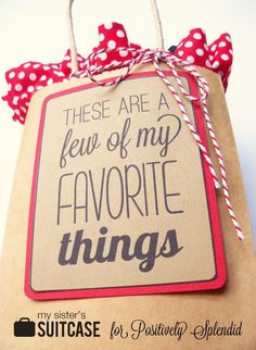 Favorite Things Gift Idea-- I like this printable. I think this would be such a fun holiday get-together with friends party. | Positively Splendid {Crafts, Sewing, Recipes and Home Decor}