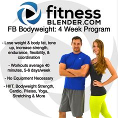 """One of our 7 brand new programs: this one brings about quick results without any equipment at all. Plus, with our new calendar feature you get to actually check off """"Workout Complete"""" for every day of the program you conquer! @ http://bit.ly/1yA4ame"""