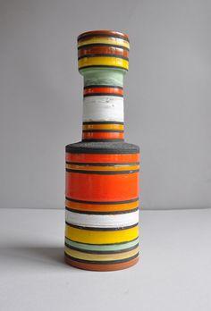 "Bitossi vase, ""Rocchetto"" line by Ettore Sottsass (Memphis Movement, Italy) Circa 1956-9."