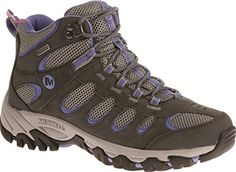 Merrell Ridgepass Mid, Chaussures de Randonnée Hautes femme, Multicolore (Castlerock/Periwinkle), 38.5 - Chaussures merrell (*Partner-Link)