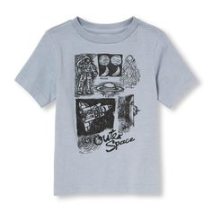 Toddler Boys Short Sleeve Outer Space Sketch Graphic Tee