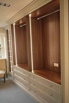Explore our extensive range of interiors for Bespoke Wardrobes in Surrey & Essex. We create High-End Bespoke Wardrobes in Cheshire & London. Walk In Closet Design, Bedroom Closet Design, Master Bedroom Closet, Bedroom Built In Wardrobe, Bedroom Wardrobe, Sliding Wardrobe, Wardrobe Door Designs, Closet Designs, Dressing Room Design