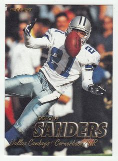 Deion Sanders # 251 - 1997 Fleer Football