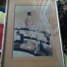 """""""Madame Butterfly"""" 1927 Louis Icart   My mom picked this up at the salvation army for only $69!!!"""
