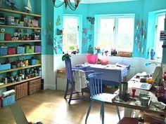 'The Burrow': Workroom of The Bunny maker, aka Folksy Seller Widget & Friends at The Warren http://www.folksy.com/shops/TheWarren