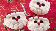 When it's your turn to provide the treat for a party, these Santa cupcakes will be scene-stealers.  Kids will love to help decorate them.
