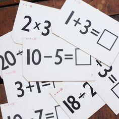 Mathematical Flash Cards 12pk Fab.com |