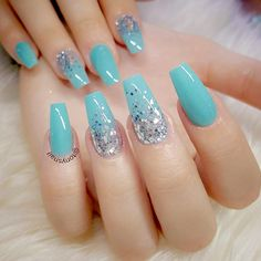 Gel nail colors will attract all the attention to your nails. If you are not afraid of it, here is the whole collection of gel nail art ideas for you. Beautiful Nail Designs, Cute Nail Designs, Acrylic Nail Designs, Blue Gel Nails, Gel Nail Colors, Summer Acrylic Nails, Best Acrylic Nails, Gorgeous Nails, Pretty Nails