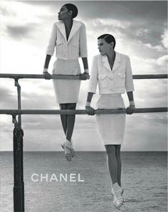 Saskia de Brauw and Joan Smalls are Gymnasts for Chanel's Spring 2012 Campaign, Styled by Carine Roitfeld