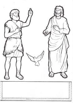 Knutselwerkje Jezus' doop deel 1 Bible craft Jesus' baptisme part 1