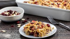 Almond, Apple and Cranberry Baked Oatmeal Pumpkin Vegetable, Creamy Macaroni And Cheese, Still Tasty, Coconut Recipes, Healthy Recipes, Cranberry Recipes, Breakfast Casserole, Breakfast Recipes, Baked Oatmeal