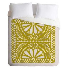 """Bring cosmopolitan charm to your master suite or guest room with this eye-catching cotton duvet cover, showcasing a botanical-inspired medallion motif in an olive-hued palette.   Product: Duvet coverConstruction Material: CottonColor: OliveFeatures: Designed by Natalie Baca for DENY DesignsDimensions: Twin Duvet: 88"""" x 68""""Queen Duvet: 88"""" x 88""""King Duvet: 104"""" x 88""""Note: Duvet does not include insert"""