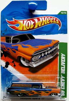 Hot Wheels 2011 Treasure Hunt 1959 Chevy Delivery #15/15 SUPER TREASURE Hunt #HotWheels #Chevrolet