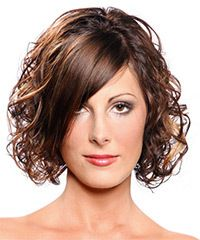 A great mid-length style for those with a natural curl who like to scrunch their hair.