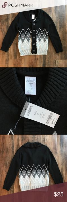 Gymboree Boys Sweater XS 4 Button Up Dress Jacket Gymboree boys button up sweater jacket. Great for church and holidays! Size XS 4, 100% cotton. New with tags. Gymboree Shirts & Tops Sweaters