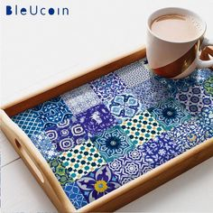 Kitchen/Bathroom Indian Jaipur Blue pottery tile/wall decals : 22 designs X Blue Pottery Jaipur, Floor Decal, Tile Crafts, Tile Decals, Kitchen Wall Tiles, Stick On Tiles, Pottery Designs, Decoration, Diy Projects