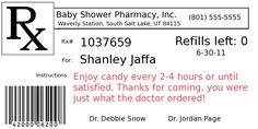 Funny Prescription Label Template | The Fun Cheap or Free Queen: DIY Project: Pill bottle party favors