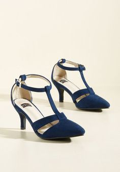 Classy Mastery Heel. Apply the efforts of your style studies by incorporating these navy heels in any look of your choosing! #blue #wedding #modcloth