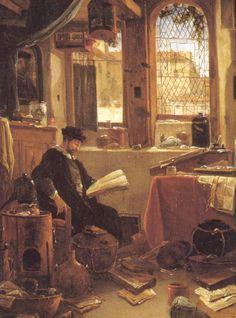 Thomas Wijck (1616-1677)  The Alchemist in his laboratory