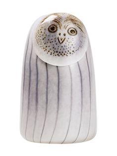 The Iittala Birds originated in 1973 with Oiva Toikka's small Flycatchers. Each Toikka's glass birds are unique like a Jewel. Ceramic Owl, Ceramic Animals, Long Eared Owl, Stig Lindberg, Cute Birds, Owl Art, Glass Birds, Marimekko, Glass Design