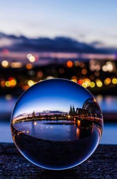 """plasmatics: """" The Cologne Cathedral captured in a crystal ball by Vivien J-Dora """" Glass Photography, Reflection Photography, Macro Photography, Creative Photography, Amazing Photography, Landscape Photography, Photography Ideas, Travel Photography, Dark Art Photography"""