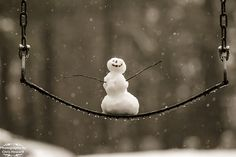 Happy Snowman! by Photography by Chris Howard  would be so cute with the kids in the background