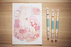 Waiting  giclee print by frannerd on Etsy