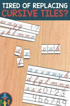 Cursive Letter Tiles for Center Activities Love these printable cursive tiles! Teaching Kids To Write, Primary Teaching, Teaching Resources, Elementary Teaching, Perfect Handwriting, Handwriting Lines, Handwriting Practice, Spelling Practice, Spelling Activities