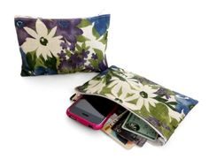 Provence Bouquet Zippered Pouch by The Verde Bag, $5.00