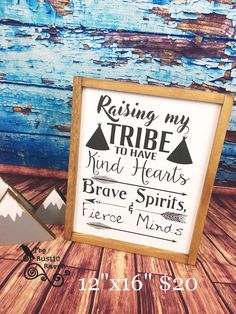 A personal favorite from my Etsy shop https://www.etsy.com/listing/518237760/raising-my-tribe-framed-farmhouse-style
