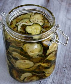 Bread and Butter pickles 16