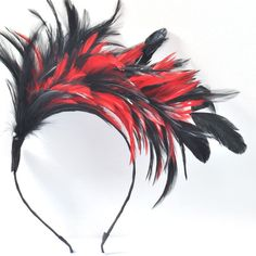 new lady women hair band handmade headband fascinator feather accessory wedding in Hair Accessories | eBay