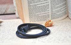 Zipper bracelet men's women's plastic by SakuraZIPPERjewelry, $32.41