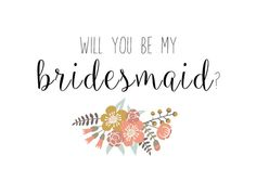 Bridesmaid Card Will you be my Bridesmaid by LittlePrintsStore