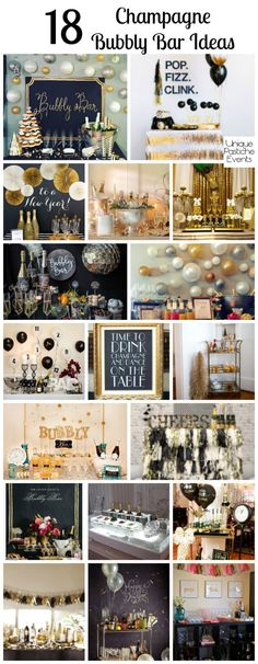 18 Champagne Bubbly Bar Ideas PERFECT for New Year's Eve!