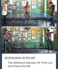 Alex looks like he is getting murdered by a ping-pong ball and PTV is having a normal game on the other hand