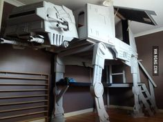 Best bed ever? AT AT bed <3 #StarWars