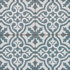 Capturing the artisanal look of cement tile, the Merola Tile Berkeley Blue Encaustic in. Ceramic Floor and Wall Tile offers an encaustic, old-world design that can blend into any decor. Bathroom Flooring, Kitchen Flooring, Modern Flooring, Kitchen Backsplash, Flooring Ideas, Vinyl Flooring, Terrazzo Flooring, Cork Flooring, Basement Flooring