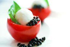 gastronomy | Molecular Gastronomy - Caprese bites with balsamic vinegar pearls ...