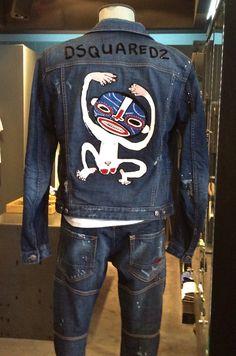 Dsquared2 SS15 runway monkey denim jacket in ELITE Man in Puerto Banús! http://www.elitestore.es/dsquared2/