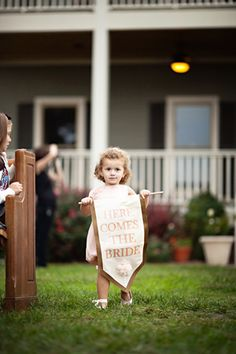 this is a cute wedding photo op if you knew an adorable toddler that time next year:)