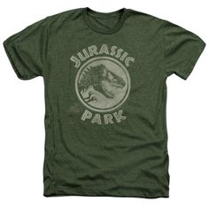 7a061fe6792dfb The Jurassic Park - Jp Stamp Heather T-Shirt is officially licensed