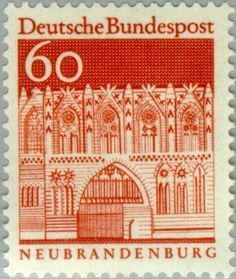German Stamps, German Architecture, 12th Century, Tampons, Stamp Collecting, Postage Stamps, Germany, Poster, History