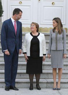 Los Reyes reciben a la Presidenta de Chile en la primera visita de Estado del reinado de Felipe VI - Foto 8