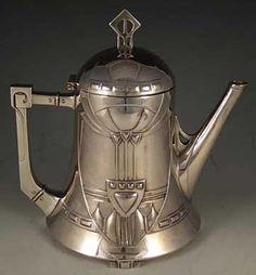 WMF Secessionist Art Nouveau Teapot, Germany, 1905