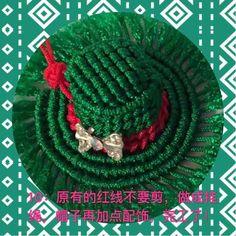 Macrame Tutorial 美哒哒的帽子 第10步 Macrame Design, Macrame Tutorial, Micro Macrame, Crochet Hats, Christmas Ornaments, Holiday Decor, Projects, Mix Media, Paracord