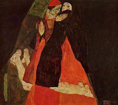 Cardinal and Nun, Egon Schiele