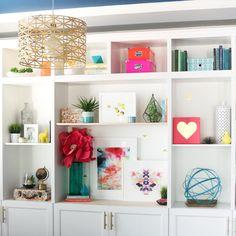 Fresh and Beautifully Styled Bookshelves - Kailo Chic