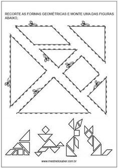 racha cuca tangram Educational Activities, Preschool Activities, Tangram Puzzles, Coding For Kids, Math Class, Preschool Worksheets, Math Games, Pattern Blocks, Kids Education